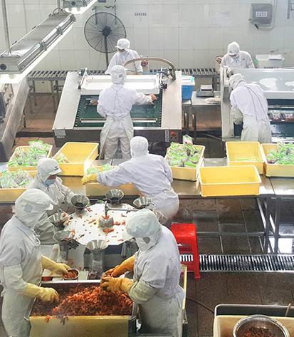 某食品厂高筒雨靴合作案例